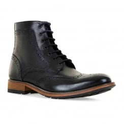Ted Baker Mens Sealls 3 Brogue Ankle Boots (Black)