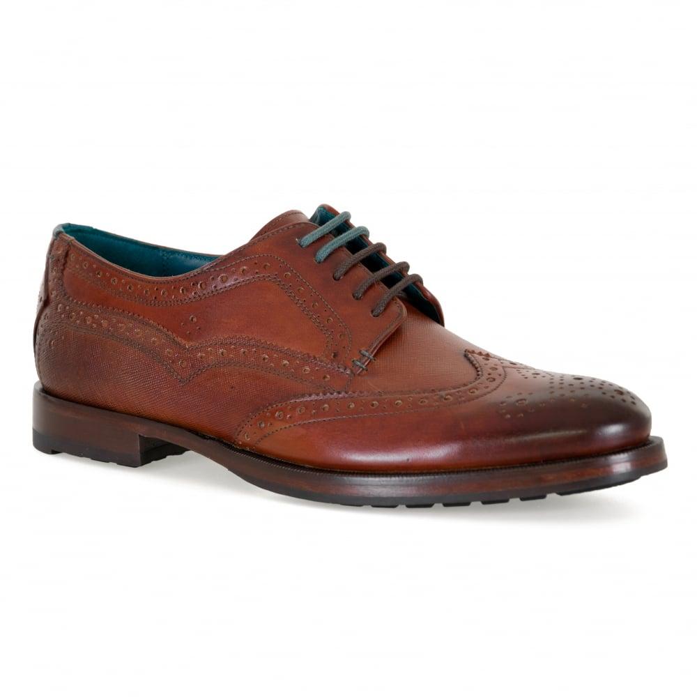 Ted Baker Mens Senape Leather Brogue Shoes (Tan)