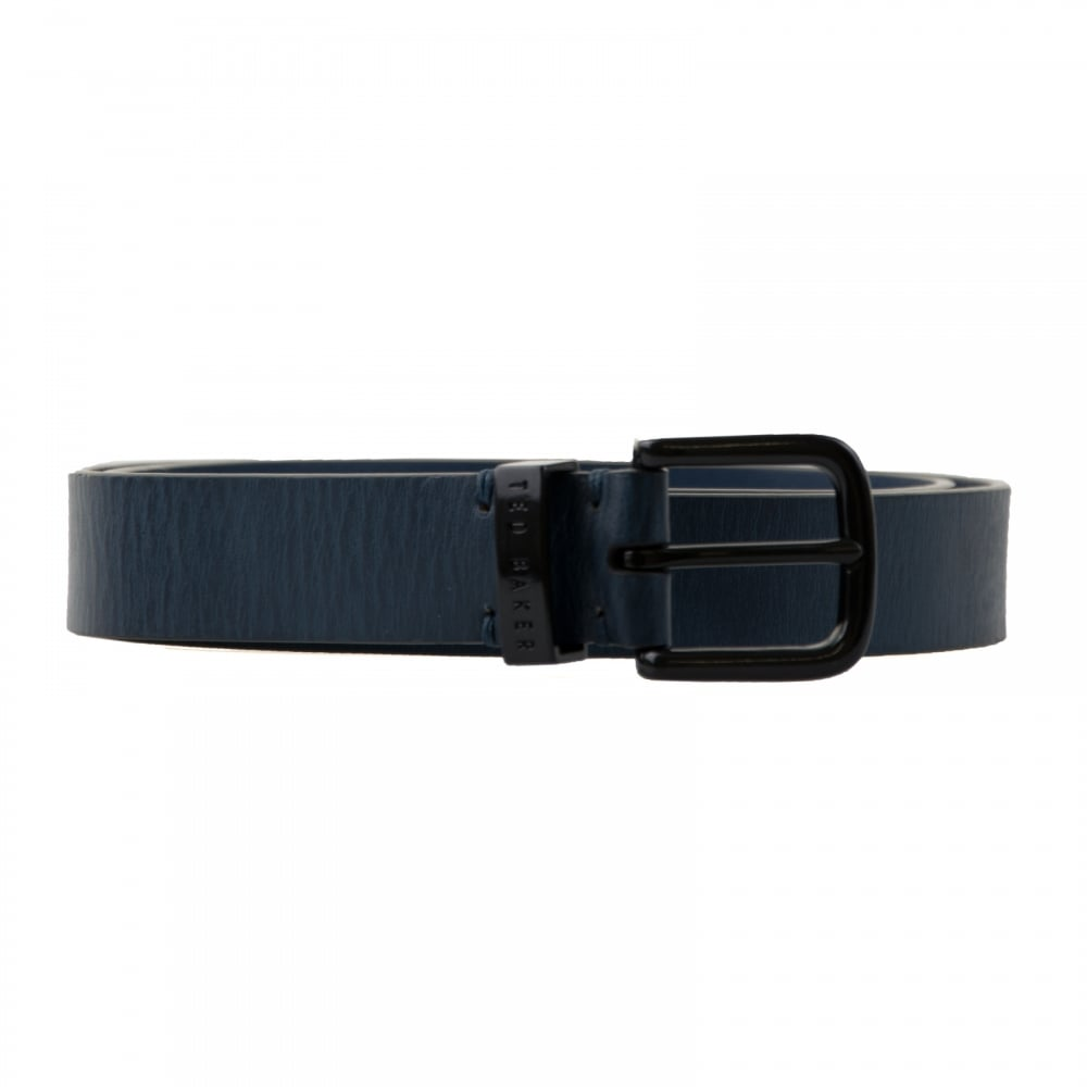 a26d1fe2a Ted Baker Mens Spenny Coloured Leather Belt (Blue) - Mens from Loofes UK