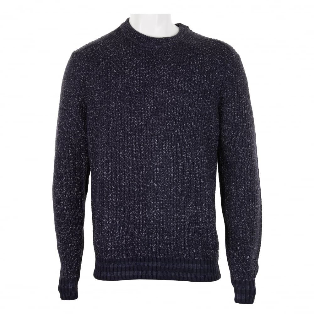 631a78396f3cd9 Ted Baker Mens Teabury Textured Knitted Sweater (Navy) - Mens from ...