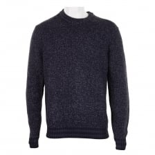 Ted Baker Mens Teabury Textured Knitted Sweater (Navy)