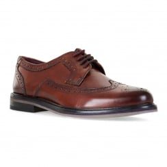 Ted Baker Mens Ttanum Derby Brogue Shoes (Tan)