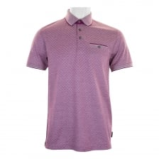 Ted Baker Mens Utah Oxford Jacquard Polo Shirt (Purple)