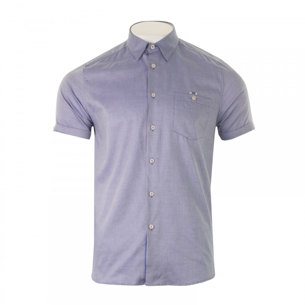 Ted baker mens wallo oxford shirt blue mens from loofes uk for Ted baker blue shirt