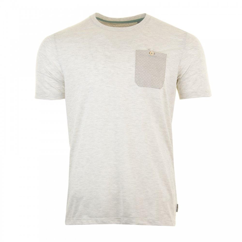 88646a1d Ted Baker Mens Web Short Sleeve Pocket Detail Slub T-Shirt (Light Grey)