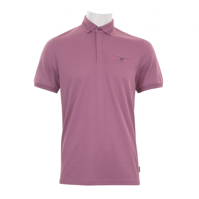 Ted Baker Mens Witney Textured Polo Shirt (Purple)