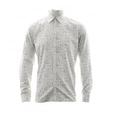 Ted Baker Mens Woodys Linear Floral Shirt (White)