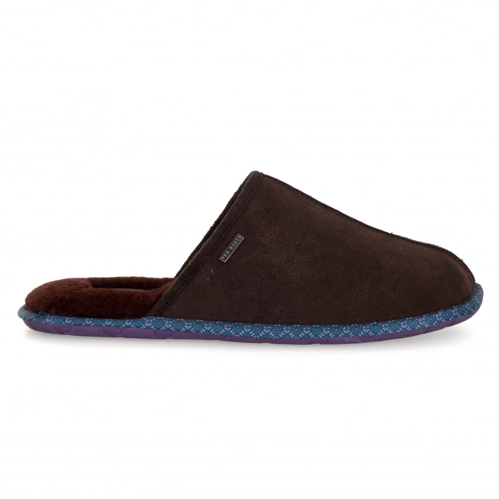 Ted Baker Mens Youngi Suede Mule Slippers (Brown)