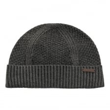 Ted Baker Ozzy Rib And Waffle Knit Hat (Grey)