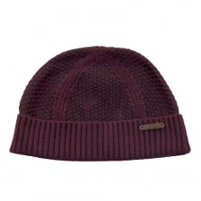 Ted Baker Ozzy Rib And Waffle Knit Hat (Purple)