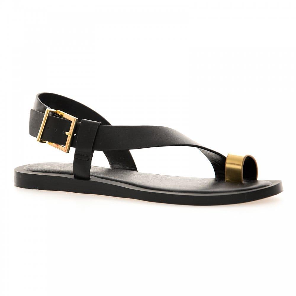 ted baker ted baker womens prendie sandals black gold ted baker from loofes uk. Black Bedroom Furniture Sets. Home Design Ideas