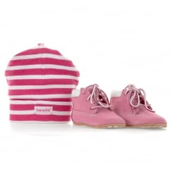 Timberland Infants Crib Baby Boots Set (Pink/White)
