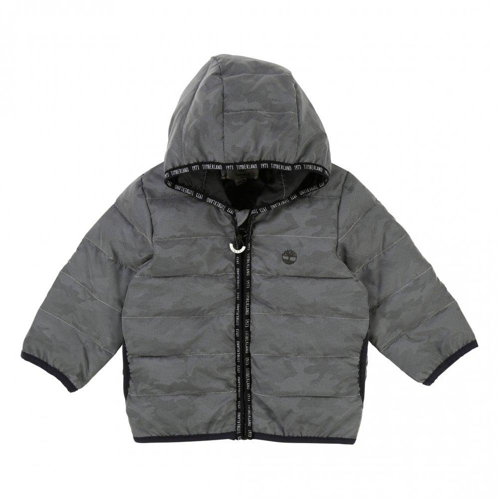 466c92cabd2b Timberland Timberland Juniors Camo Mesh Puffer Jacket (Silver)
