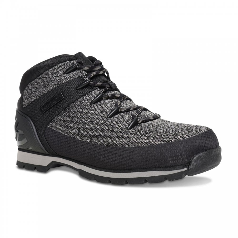e9021587736ed4 Timberland Mens Euro Sprint Fabric Boots (Black/Grey) - Mens from ...