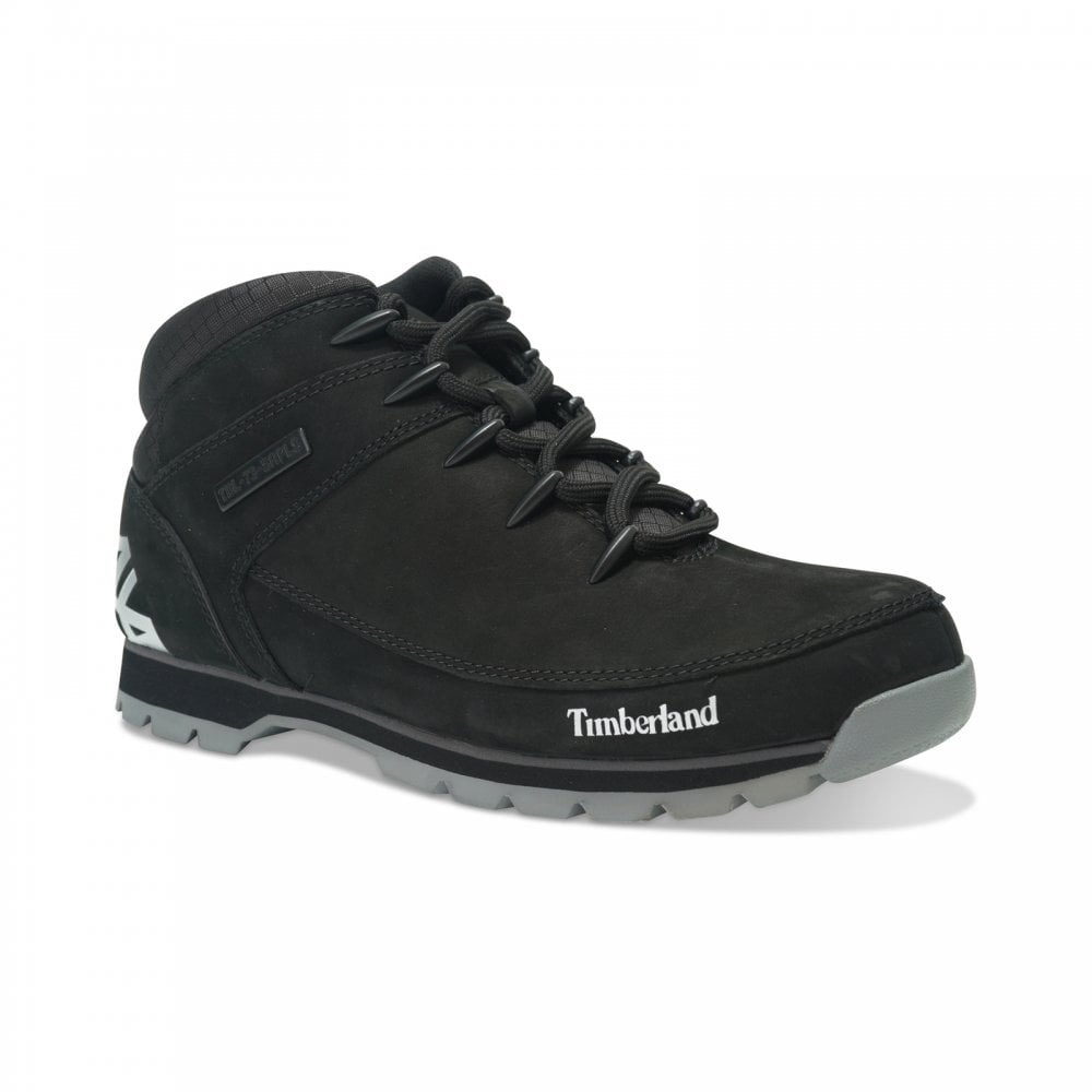 ratón Largo tirar a la basura  Timberland Mens Eurosprint Heel Logo (Black) - Mens from Loofes UK