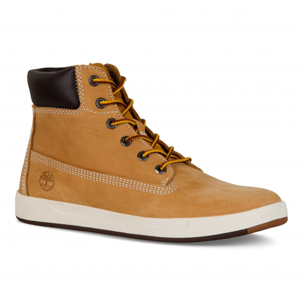 26b1f9d7e2040 Timberland Youths Davis Square Boots (Wheat) - Kids from Loofes UK