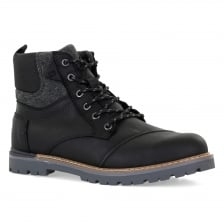 Toms Mens Ashland Waterproof Boots (Black)
