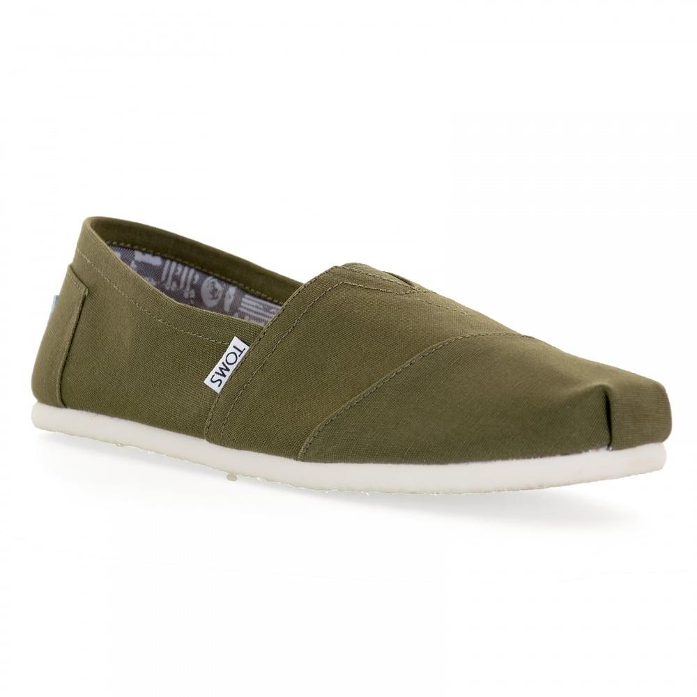 toms toms mens classic canvas 117 shoes green mens