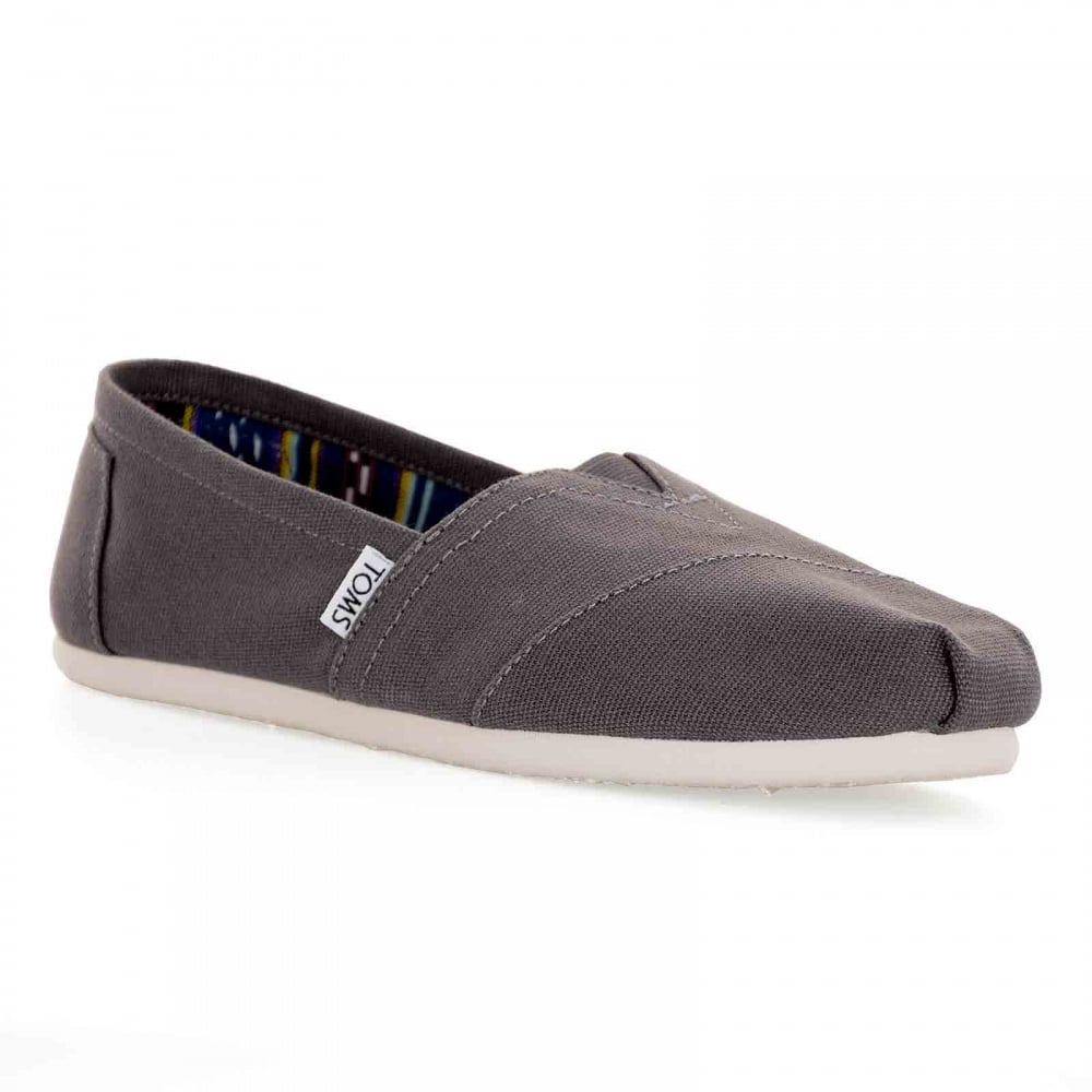 36ab327e827 TOMS Toms Mens Classic Canvas Slip-On Shoes (Grey) - Mens from Loofes UK