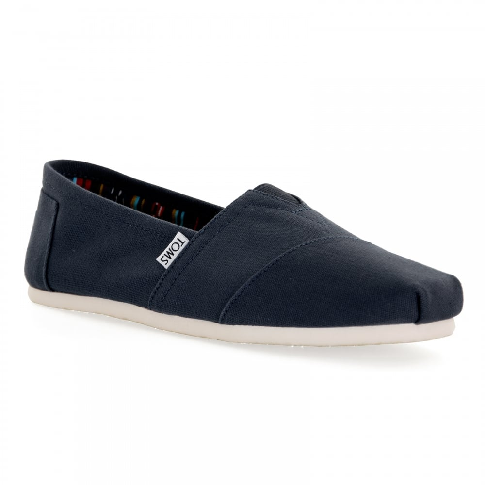 0d80b3cf502 TOMS Toms Mens Classic Canvas Slip-On Shoes (Navy) - Mens from Loofes UK