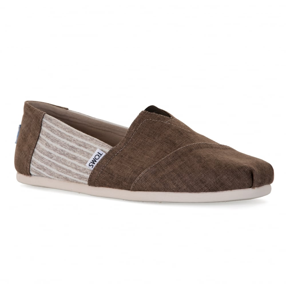 TOMS Mens Linen Stipe Shoes (Toffee) - Mens from Loofes UK 81c1aeb380ef