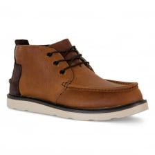 Toms Mens Waterproof Leather Chukka 317 Boots (Brown)