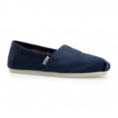Toms Womens Canvas Classic Shoes (Navy)