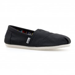 Toms Womens Canvas Slip-On Shoes (Black)