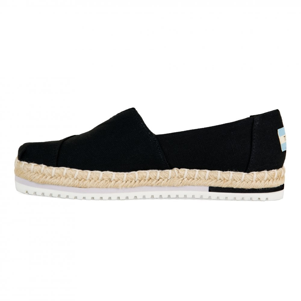 9382f5fa TOMS Toms Womens Heritage Canvas Platform 119 Shoes (Black) - Womens ...