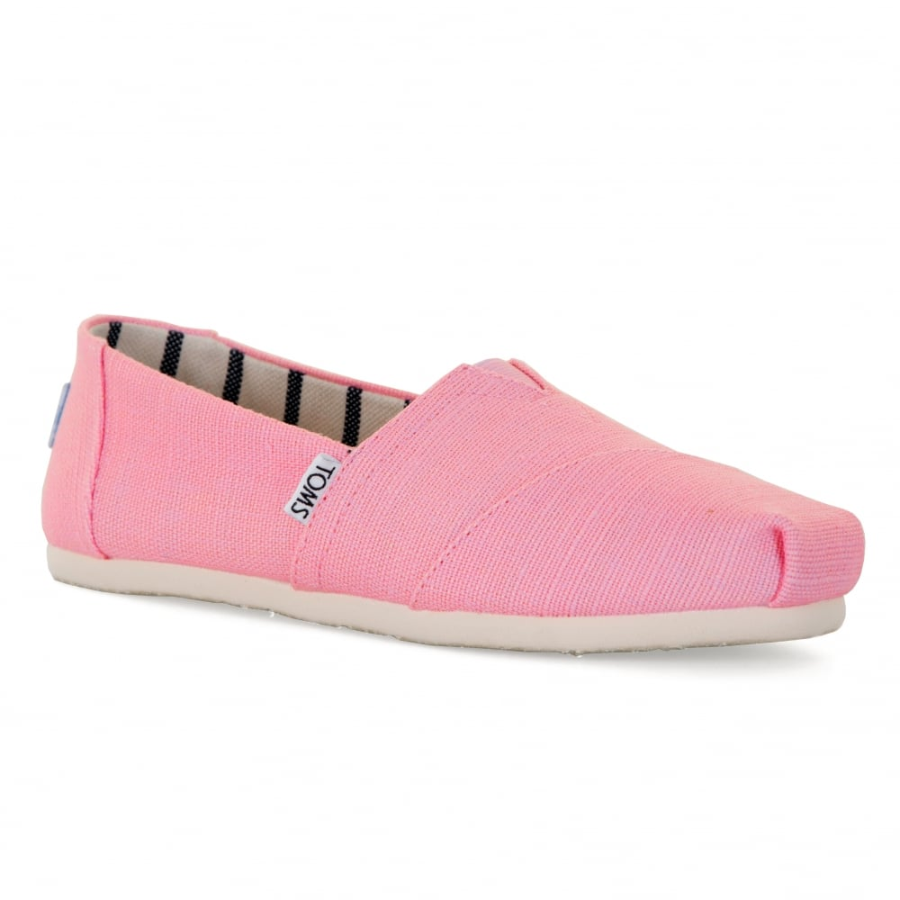 a3a45d6a TOMS Womens Heritage Canvas Shoes (Pink) - Womens from Loofes UK