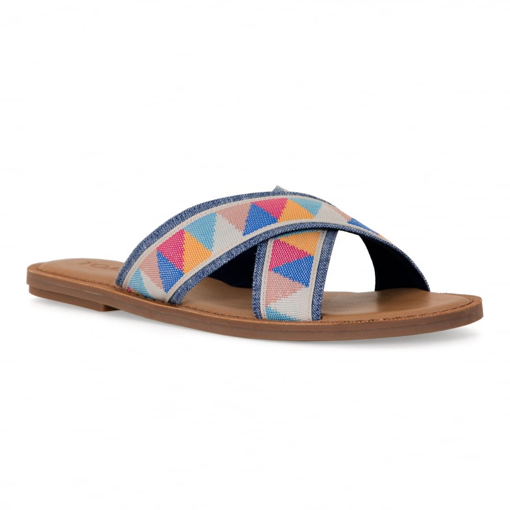 ca66ab9e61a Toms womens multi tribal sandals sand womens from loofes jpg 1000x1000 Toms  tribal sandals