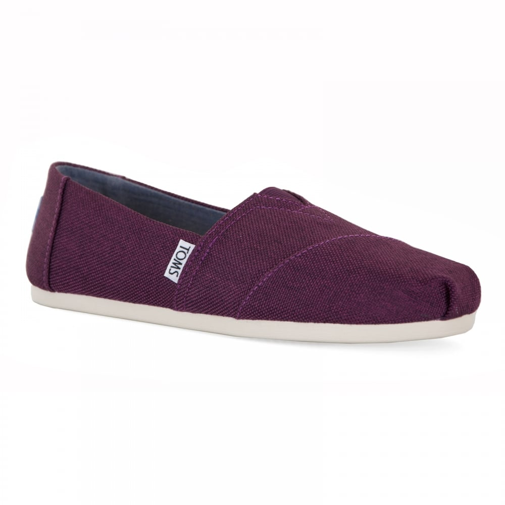 4b72d361 TOMS Toms Womens Poly Canvas 317 Shoes (Black Cherry) - Womens from ...