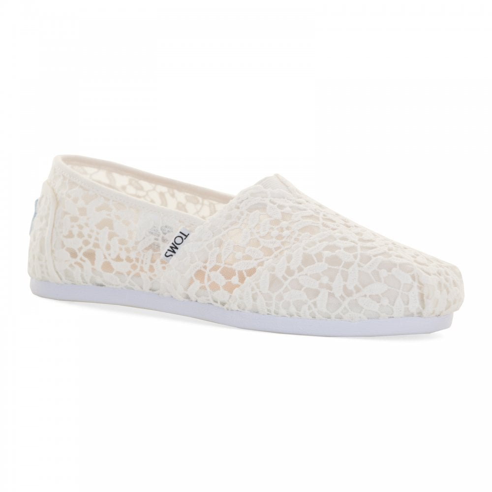 TOMS Toms Womens White Lace Shoes