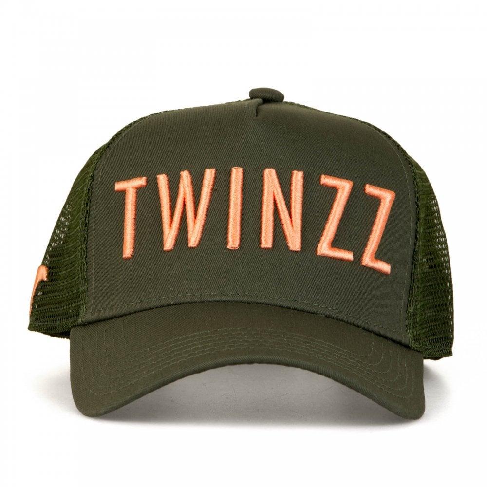 Twinzz Twinzz Mens 3D Mesh Trucker Cap (Olive Pink) e4056f9da49