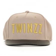 Twinzz Mens Carbon Snap Back Cap (Beige)