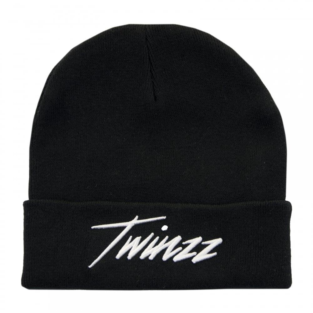 21e1cff54 Twinzz Twinzz Mens Lightning Script Beanie (Black)
