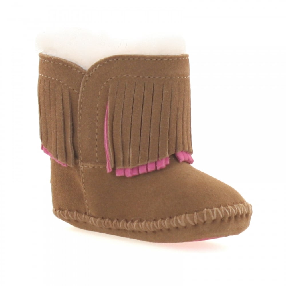 418a368e86e Infants Branyon Fringe Boots (Chestnut)