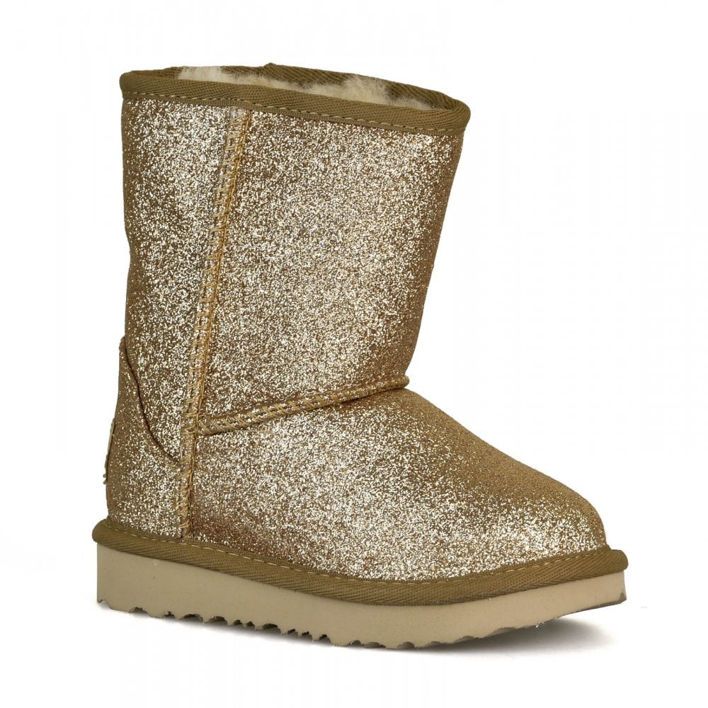 137e18b9d5e Infants Classic Short II Glitter Boots (Gold)