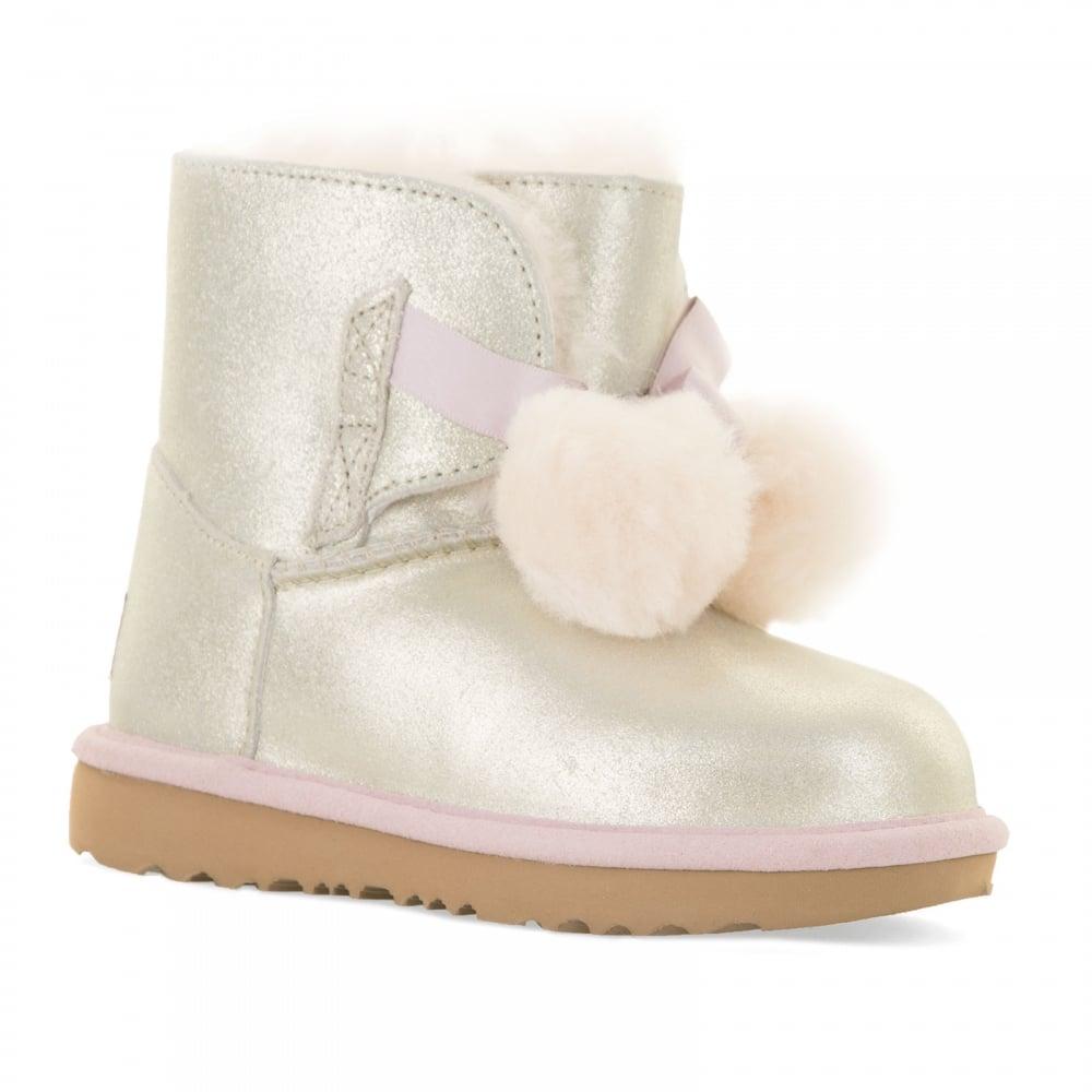 UGG Infants Gita Metallic Boots (Gold)