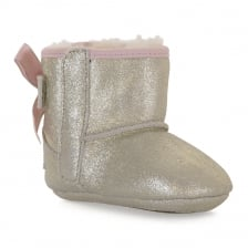 UGG Infants Jesse Bow 11 Metallic 317 Boots (Gold)