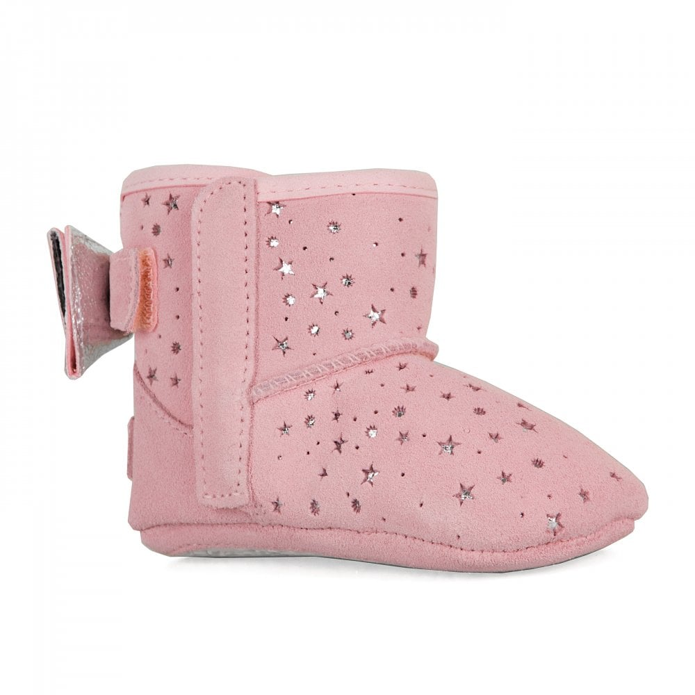 7b111befa0d Infants Jesse Bow II Star Girl Booties (Baby Pink)