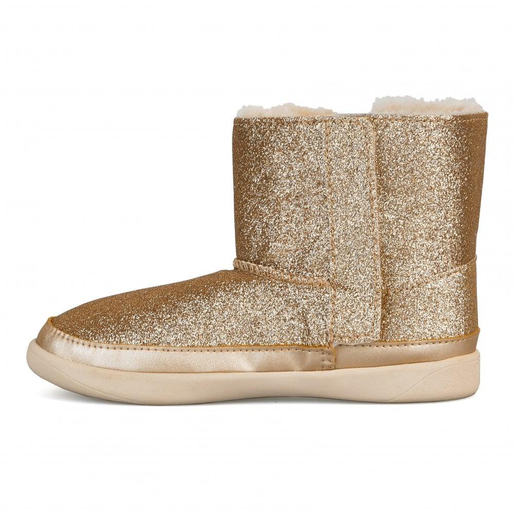 ba2a75c7bb7 Infants Keelan Glitter Boots (Gold)