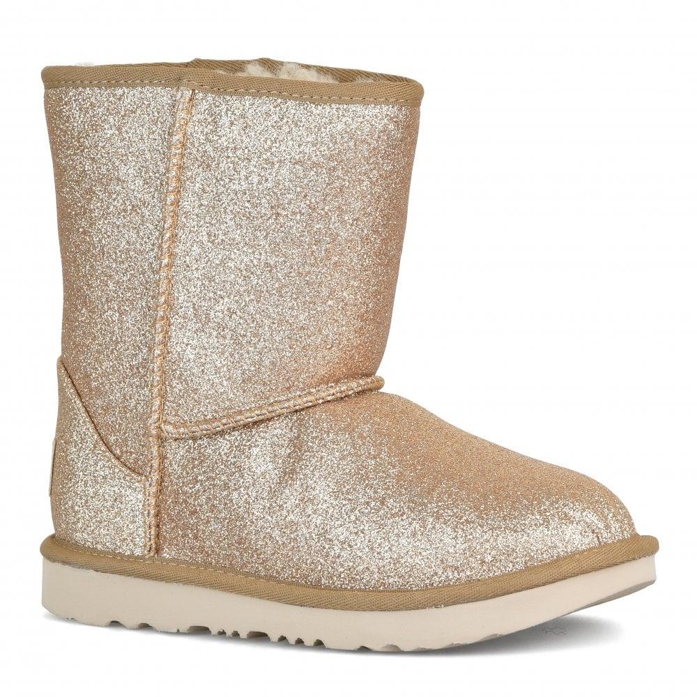 ff4761e7c6b Juniors Classic Short II Glitter Boots (Gold)