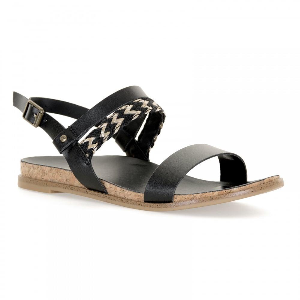 Black sandals juniors - Ugg Juniors Jayna Metallic Sandals Black