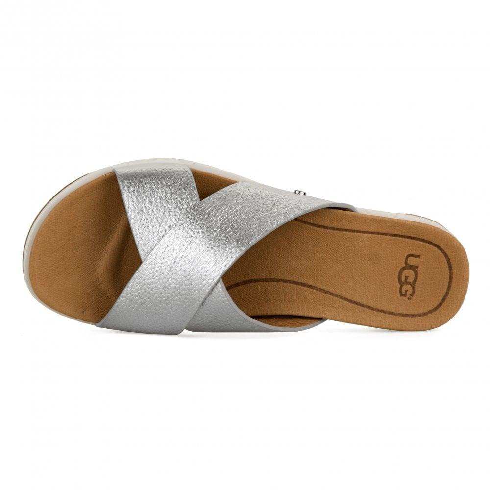 2307c1365a6 Womens Kari Metallic Sandels (Silver)