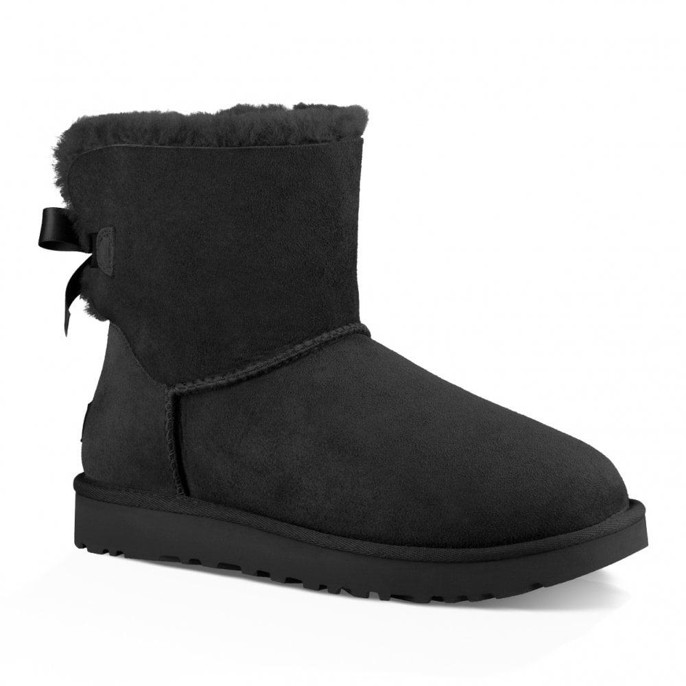 5b48a7e5923 Womens Mini Bailey Bow II Boots (Black)