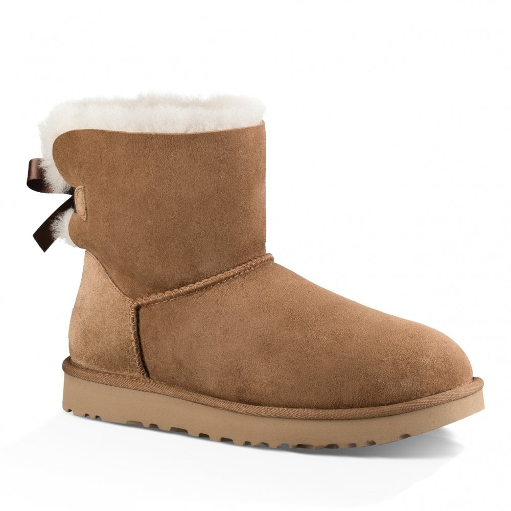 069399d1d43 UGG UGG Womens Mini Bailey Bow II Boots (Chestnut)