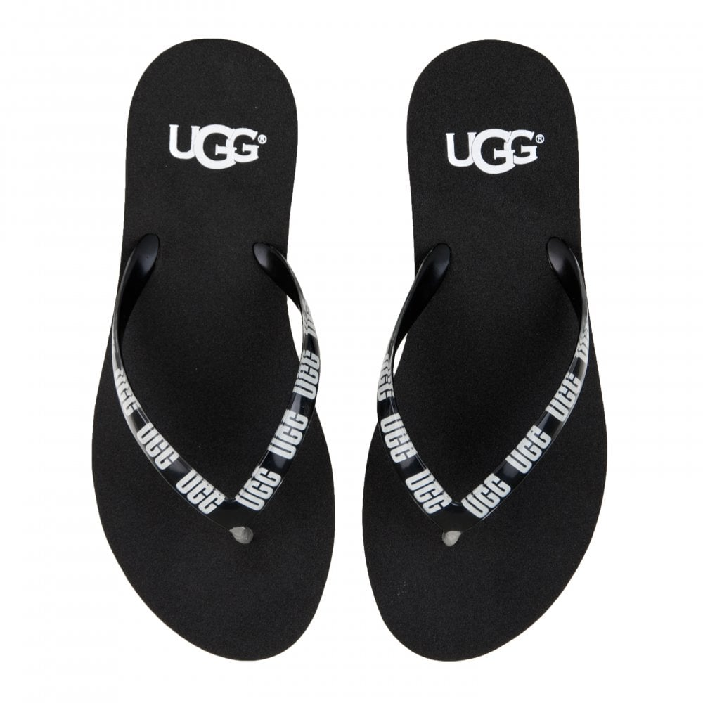 a7cee5678150 UGG Womens Simi Graphic Flip Flops (Black) - Womens from Loofes UK