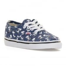 Vans Infants Authentic Peanuts Trainers (Navy)