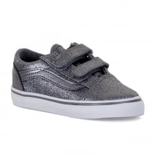 Vans Infants Old Skool Glitter 417 Trainers (Silver)
